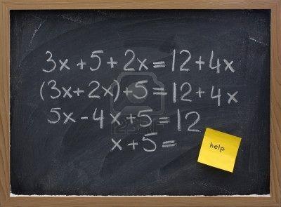 Examples of Algebraic Equations Algebra 2 Equations