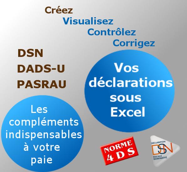 Production et contrôle des déclarations DSN, PASRAU, DADS-U